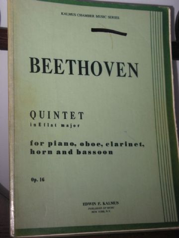 Beethoven L van - Quintet in E Flat Op 16 for Oboe Clarinet Horn Bassoon & Piano